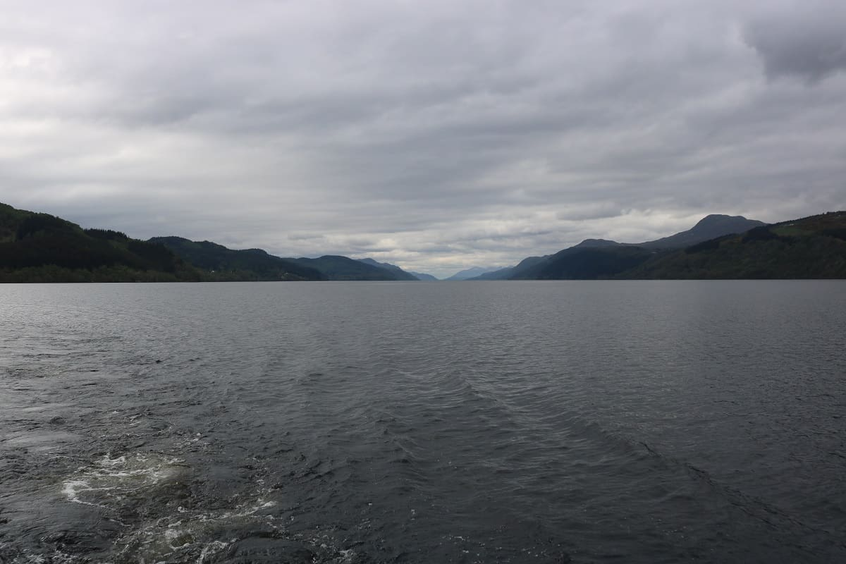 image of loch ness from the water in scotland