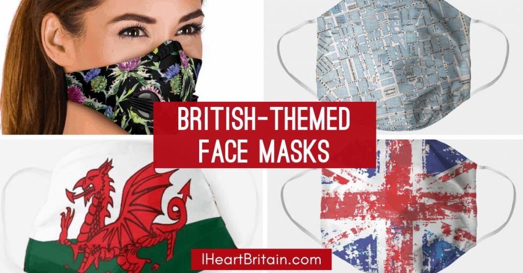 british face masks union jack thistle